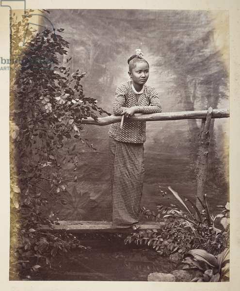 Portrait of a Burmese maiden,  Photographer: Klier, Philip Adolphe Gladstone Collection, 1880's