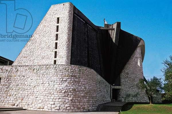 Church of Saint John the Baptist or dell'Autostrada del Sole, 1964, architect Giovanni Michelucci, Florence, Tuscany, Italy, 20th century