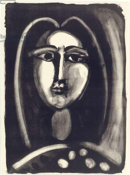Head of Woman, 1948 (litho)