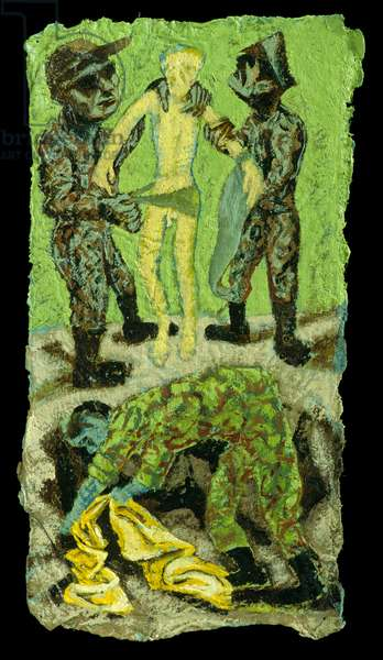 Christ stripped, 2002 (oil on paper)