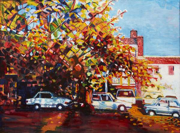 Autumn at the Cherry Tree, 1995 (oil on canvas)