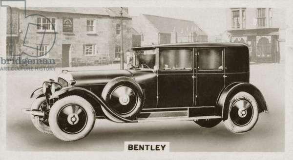 Motor car, Bentley (b/w photo)
