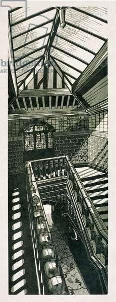 Light Stairwell VBM, 2007 (linocut)