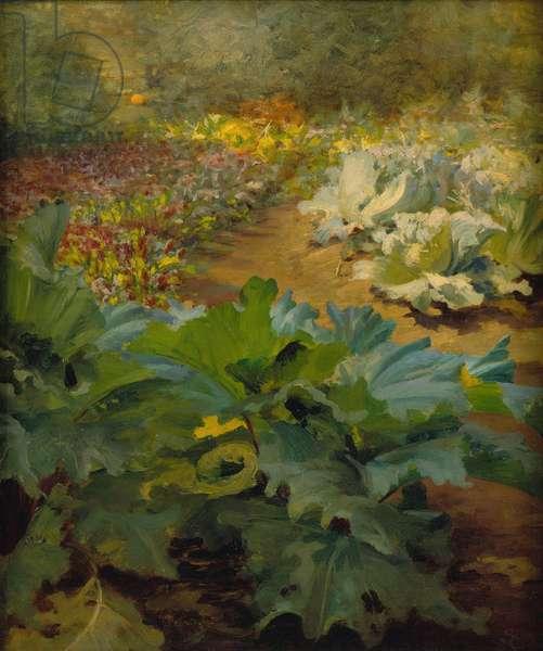 The Garden Path (oil on canvas)
