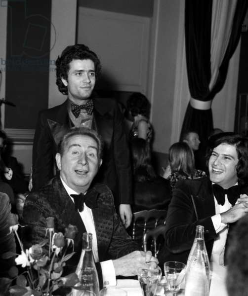 Charles Trenet and Gianni Nazzaro (standing) at Midem in Cannes, January 23, 1973 (photo)
