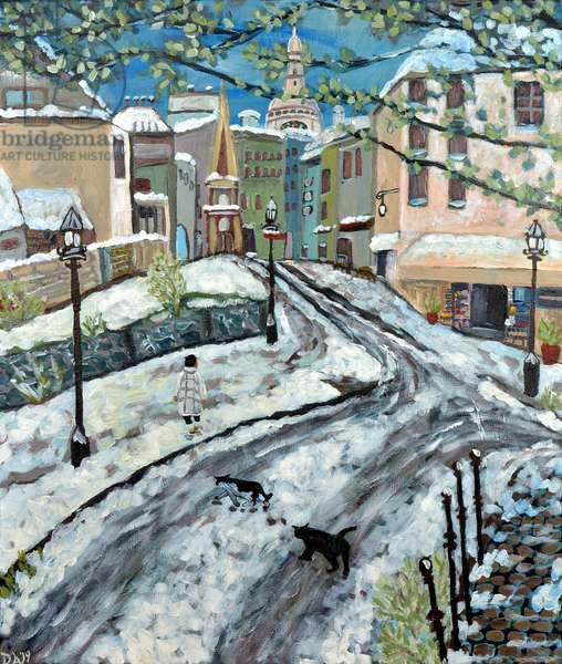 Early Snow, 2020, (acrylic on canvas)