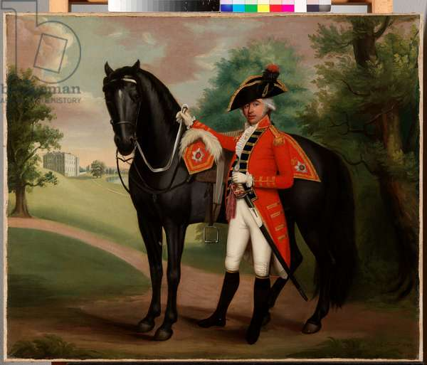 Portrait of a gentleman in military uniform (oil on canvas)