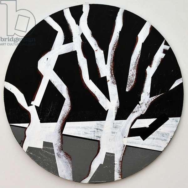 Twixt Heaven & Earth XIV-B (acrylic on circular board)