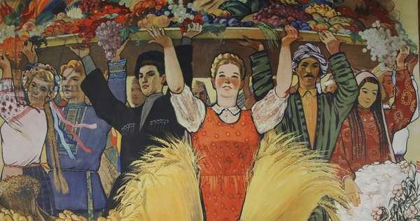 Harvest, 1958 (colour litho)