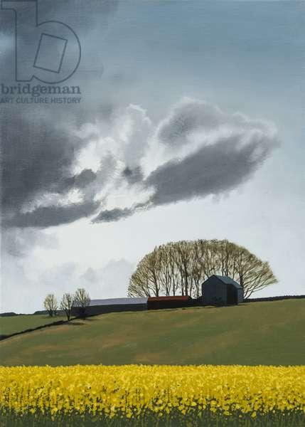 Littleton Wood Barn - Spring, 2014 (oil on canvas)