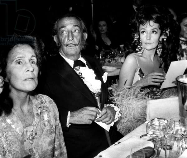 Salvador Dali and Gala (b/w photo)