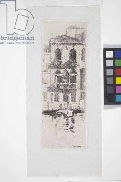 Desdemona'S Palace, Venice (etching, chine collé)