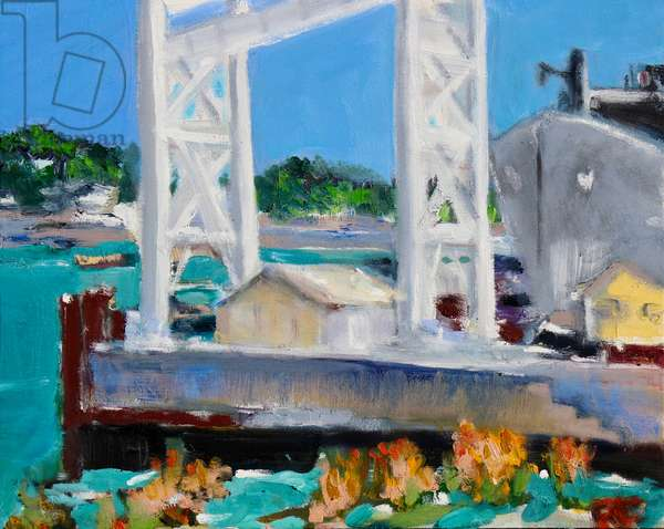 Gantry, Mare Island, 2020, (oil on canvas)