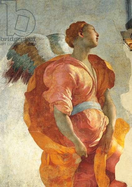 Annunciation (Annunciazione), by Jacopo Carrucci known as Pontormo, 1525 - 1528, 16th Century, fresco, 368 x 168 cm