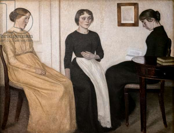 Three young women, 1895 (oil on canvas)