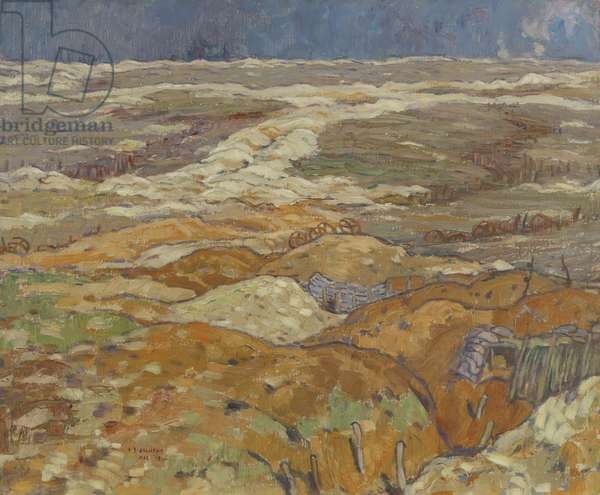 Trenches near Angres, 1918 (oil on canvas)