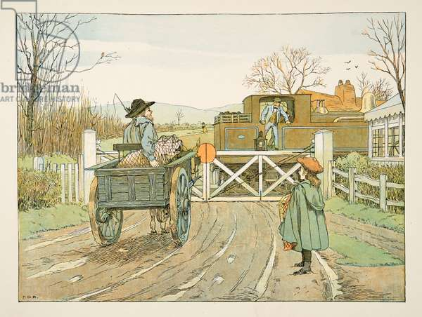 The Engine Driver,  from Four and Twenty Toilers, pub. 1900 (colour litho)