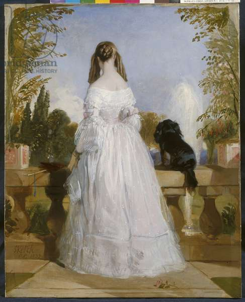Princess Victoire of Saxe-Coburg-Gotha, 1839 (oil on canvas)