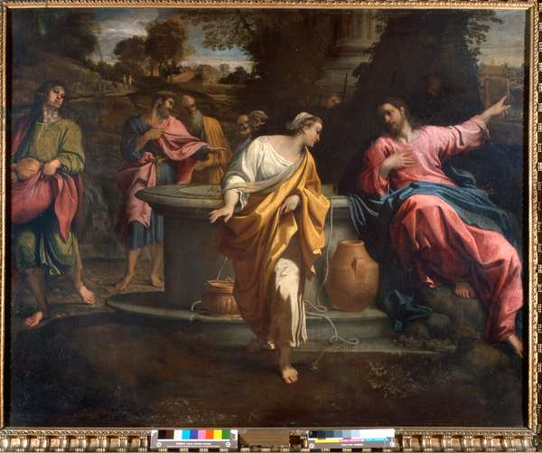 Christ and the Samaritan woman at the well, 1594-95 (oil on canvas)