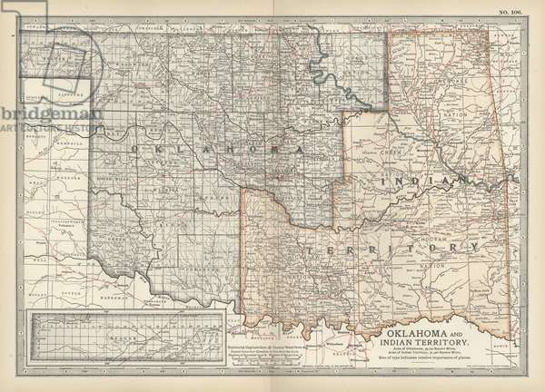 Map of Oklahoma and the Indian Territory
