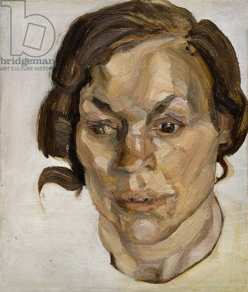 Head of a Woman, 1970 (oil on canvas)
