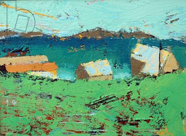 Farmstead Iona (acrylic on canvas)