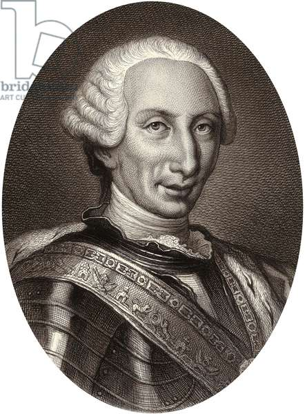Charles III (1716-1788) king of Spain in 1759-1788, engraving