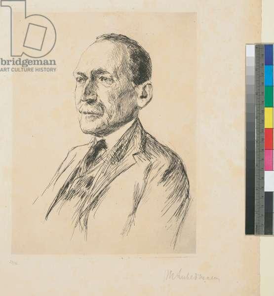 Portrait of Max J. Friedländer, c.1920-29 (etching)