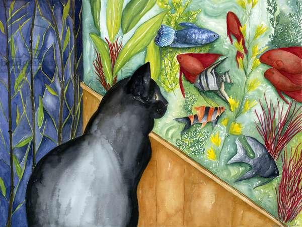 Toby's Fish, 2000, (watercolor)