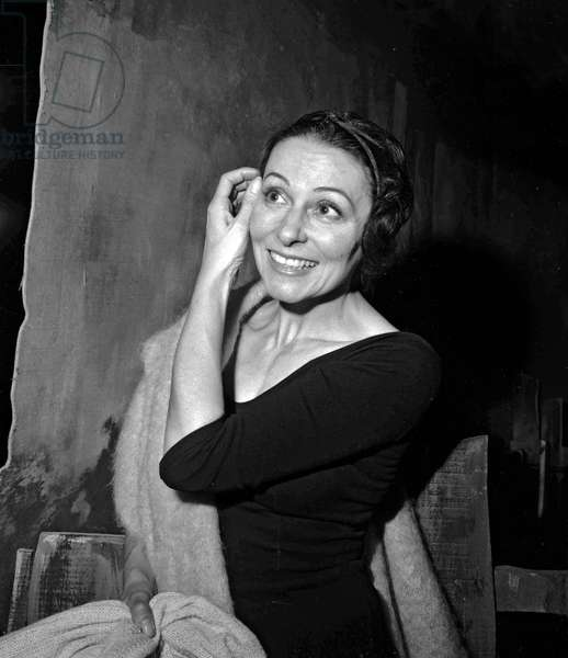 "Rehearsal of the ballet ""Gisele"" at Paris Opera, March2, 1964 : Yvette Chauvire (b/w photo)"