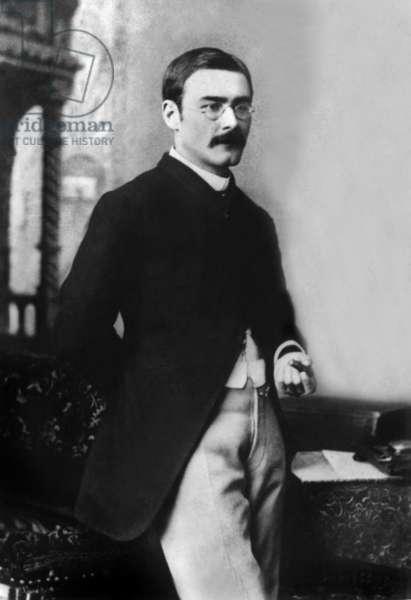 English novelist Rudyard Kipling (1865-1936), in 1904