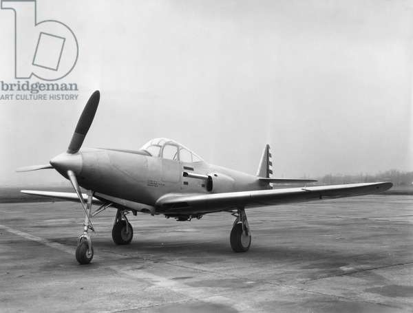 HAWKER HURRICANE A Hawker Hurricane fighter aircraft of the British Royal Air Force. Mid-20th century photograph.