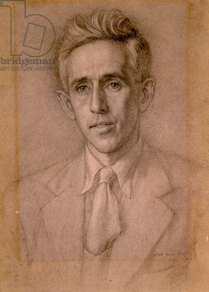 Sketch for portrait of Vernon Watkins 1947