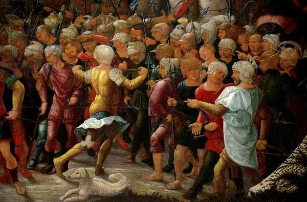 Mucius Scaevola before King Porsena, detail, 1533