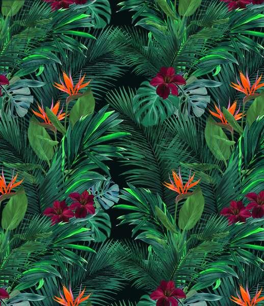 Tropical pattern, 2017, watercolor & digital