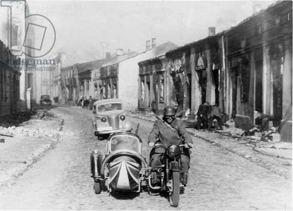 Invasion of Poland, 1939 (b/w photo)