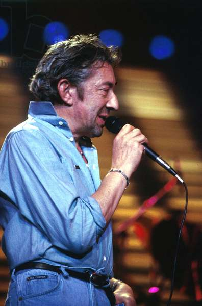 Serge Gainsbourg during Concert in Paris on September 20, 1985 (photo)