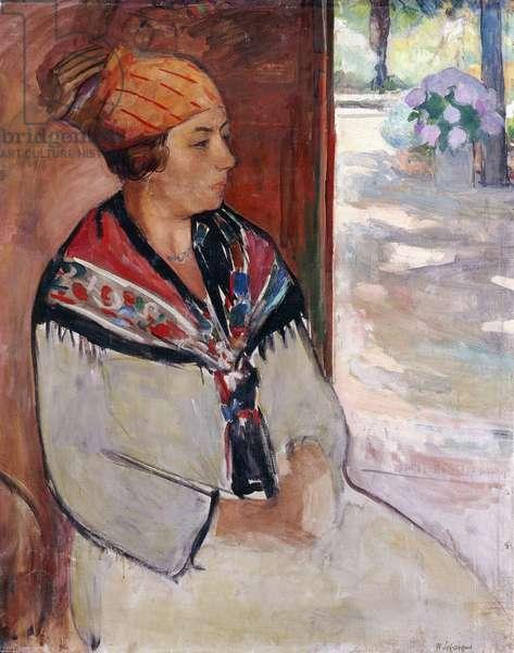 Woman in a Bandana at Prefailles; Femme au Madras a Prefailles, 1922 (oil on canvas)