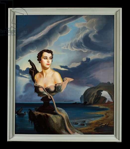 Portrait of Loelia, Duchess of Westminster (oil on canvas)
