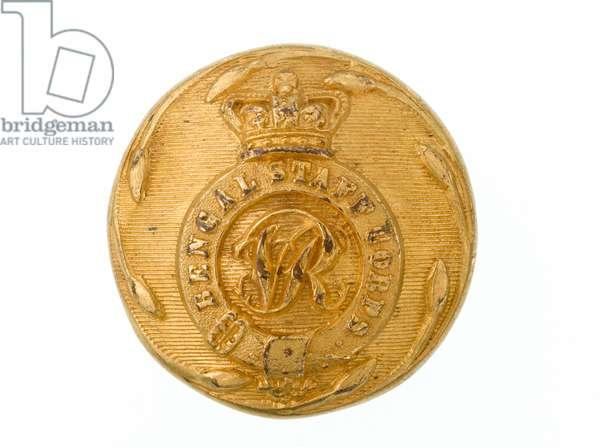 Button, Bengal Staff Corps, 1861-1876 (gilt)