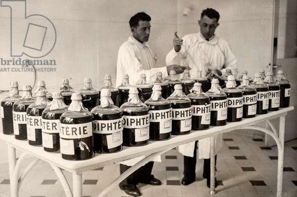 Diphtheria Vaccines, Institut Pasteur, Paris, France, 1943 (silver gelatin print)