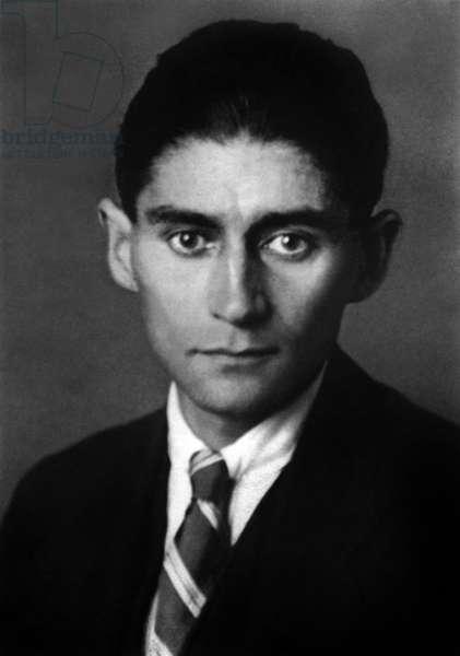 last photo of czeck writer Franz Kafka (1883-1924) c. 1923-1924