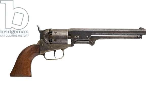 Percussion six shot revolver, c.1870 (photo)