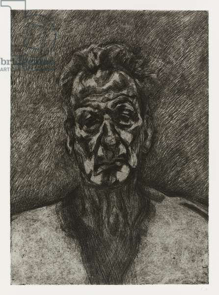 Self Portrait: Reflection, 1996 (etching on paper)
