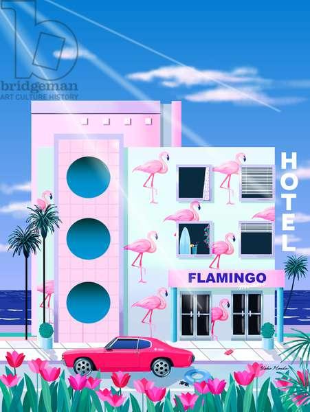 Hotel Flamingo, 2015 (digital illustration)