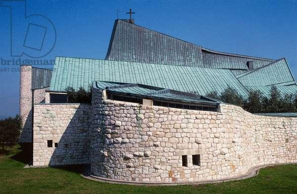 Church of Saint John Baptist or dell'Autostrada del Sole, 1964, architect Giovanni Michelucci, Florence, Tuscany, Italy, 20th century