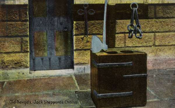 Old Newgate, Jack Sheppard's Chains (photo)