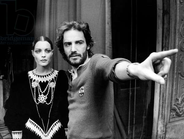 L' Important c'est d'aimer 1975 actress Romy Schneider anddirector Andrzej Zulawski on set of film The Main Thing Is to Love 1975