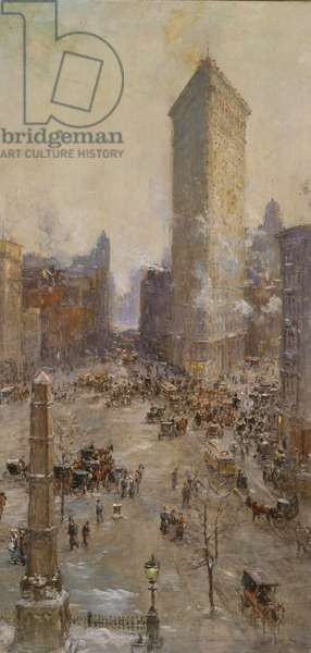 Flat Iron Building, 1904 (casein on canvas)