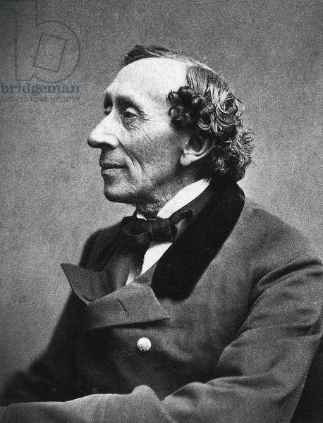 HANS CHRISTIAN ANDERSEN (1805-1875). Danish writer Photograph, 1869.